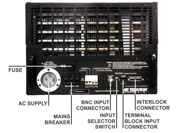 4301 amplifier module back panel