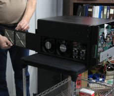Amplifier disassembly