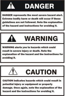 Warning definitions