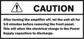 Caution: capacitor discharge