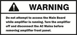 Warning-accessing the mainboard